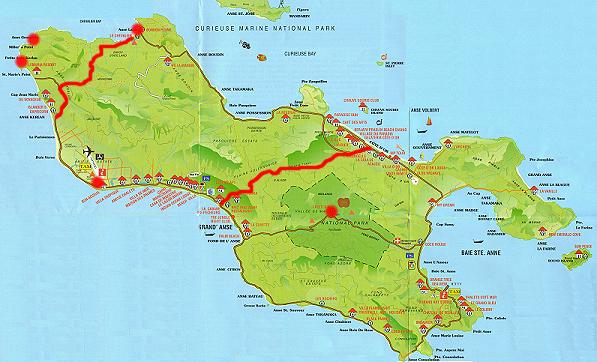 Karte Seychellen.Weltenbummler Seychellen Praslin